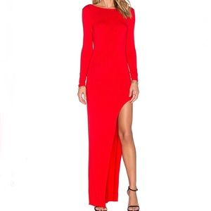 Lovers + Friends Lasting Impressions Slit Red Maxi